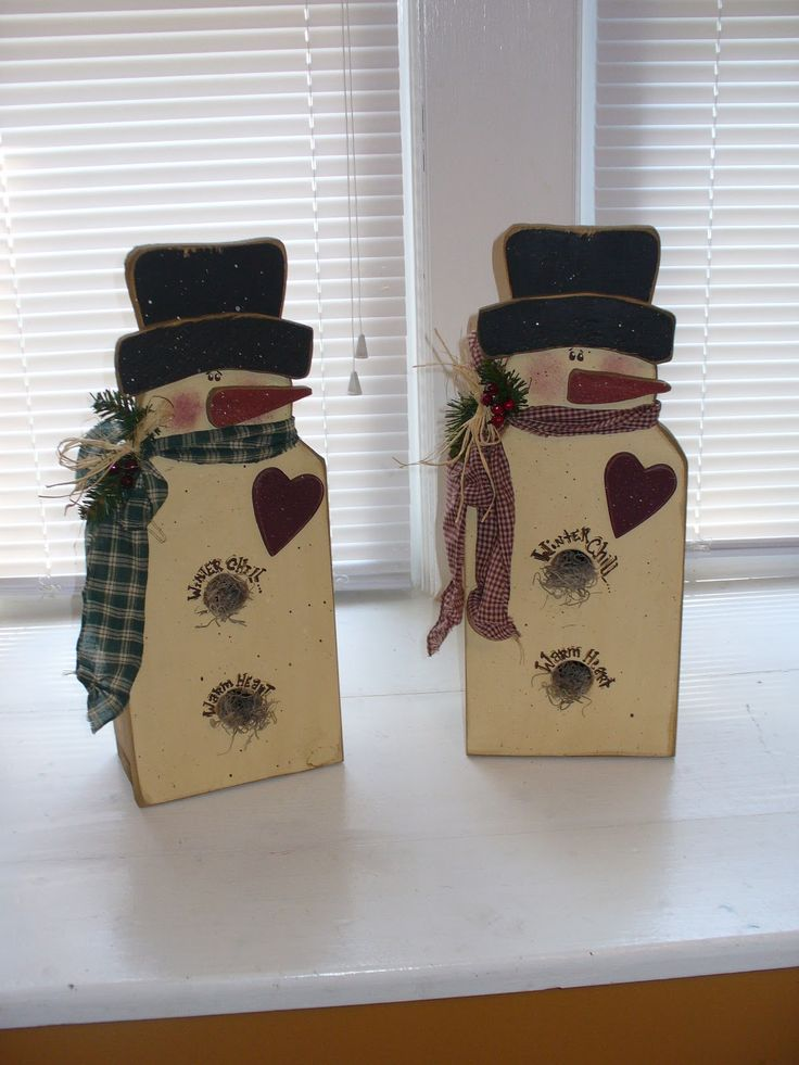 The 140 best images about prim snowmen on pinterest for Wooden christmas crafts to make