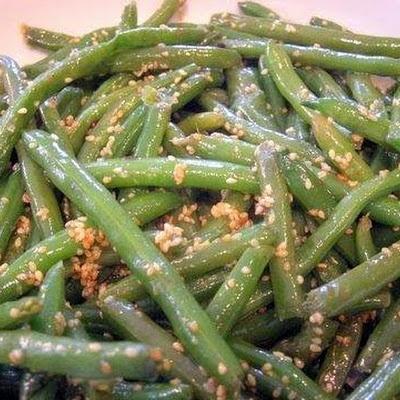 Sesame Green Beans | Chinese food | Pinterest