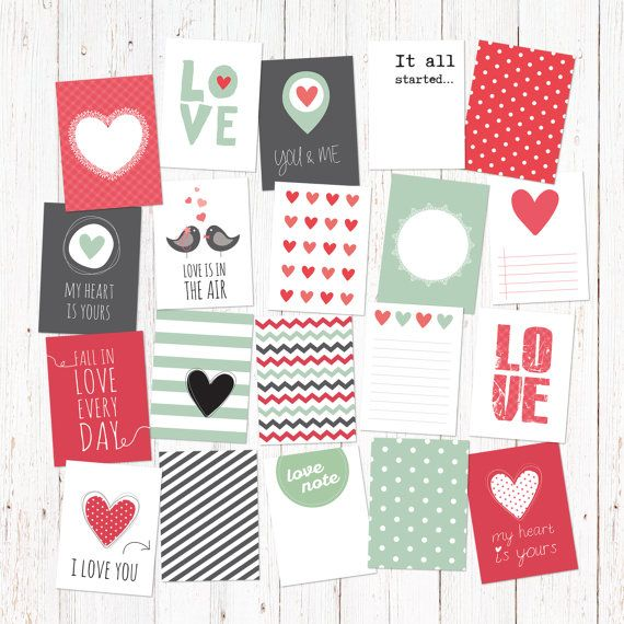 20 love theme creative digital journaling and by GraphicCorner