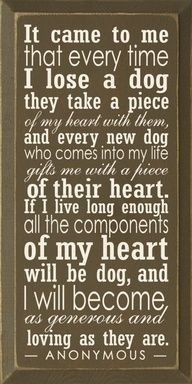 Love my dogs! This is so true and so me. I miss