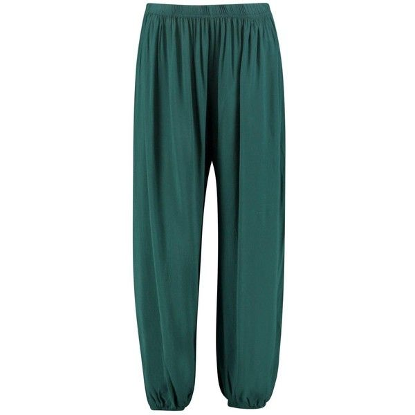 Boohoo Valera Slouchy Trousers | Boohoo (58020 PYG) ❤ liked on Polyvore featuring pants, palazzo pants, green wide leg pants, slouchy pants, sport pants and sports trousers