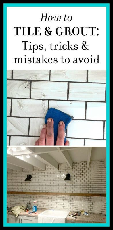 New Laundry Room: Subway Tile & Grout – Tips & Tricks