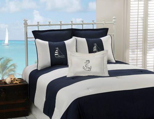 Regatta Navy Duvet Cover Set | OceanStyles.com