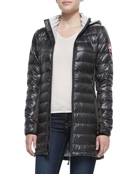 CANADA GOOSE Hybridge® Lite Hooded Coat, Redwood. #canadagoose #cloth #