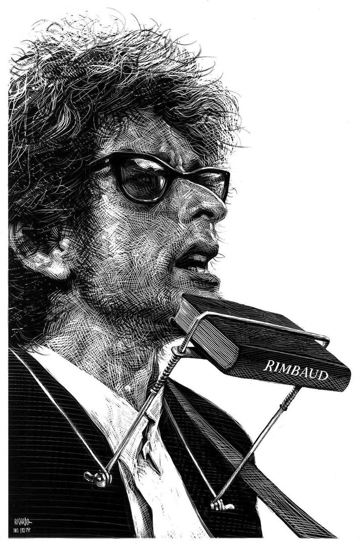 Ilustración: Bob Dyland Nobel (diciembre 11, 2016), por Ricardo Martínez