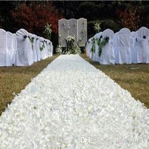 10 m/lot 1.4 m Width Romantic White 3D Rose Petal Carpet Aisle Runner For Wedding Backdrop Centerpieces Favors Party Decoration