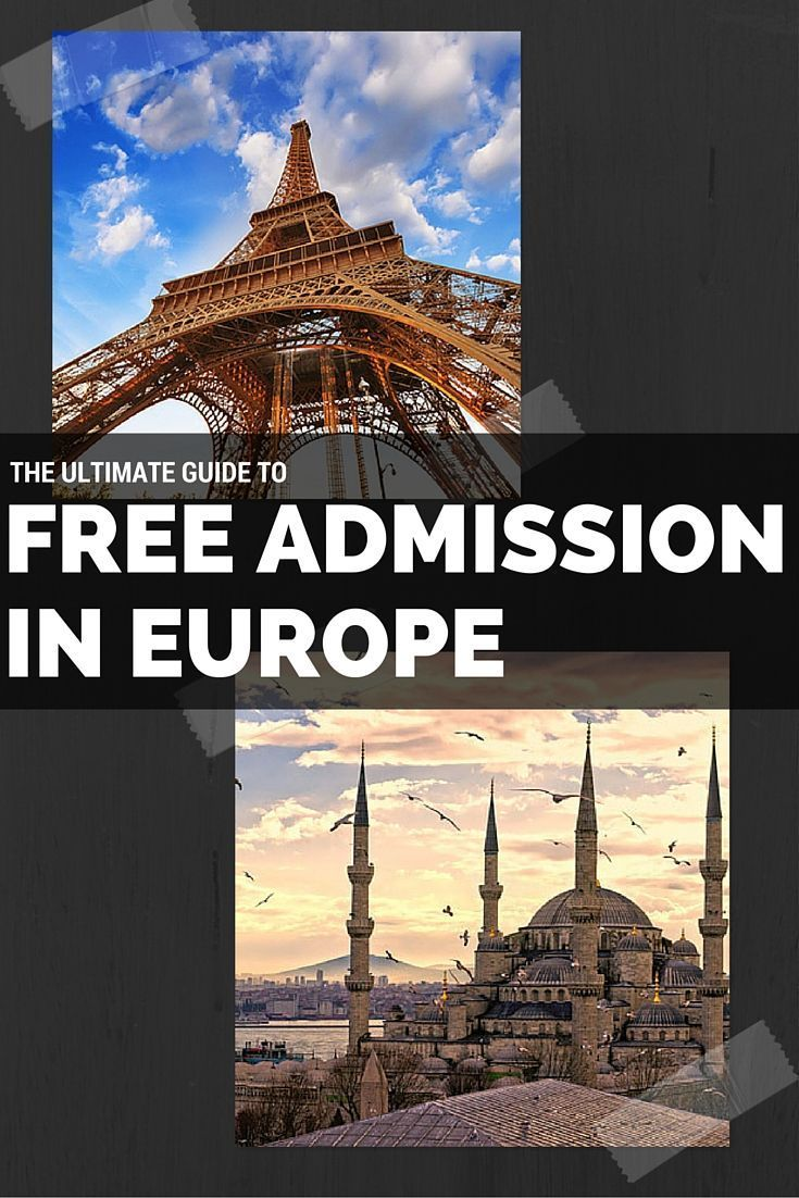 Your ultimate guide to what's free in Europe.