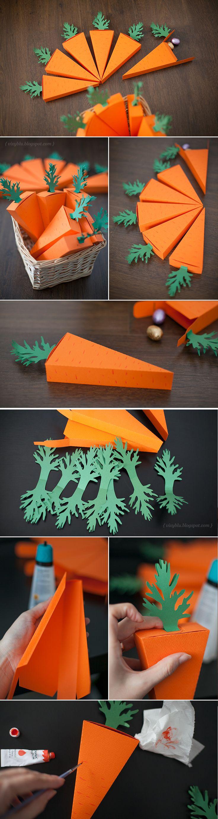 húsvéti ötletek - papírrépa