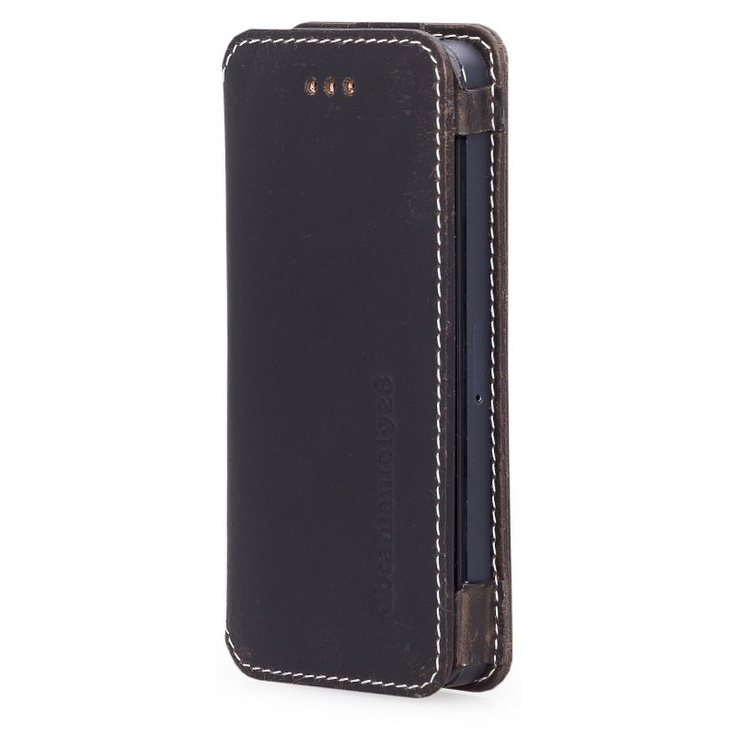 Hunter dark, 'open' leather wallet for iPhone 5 by dbramante1928. Price: $50. More information: www.dbramante1928.com.