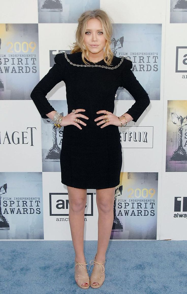 Mary-Kate Olsen  February 21, 2009  Where: At the Film Independent's Spirit Awards.  What: Dress by Balmain; shoes by Proenza Schouler.