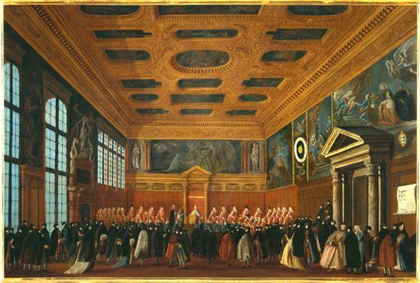 """""""Il ricevimento di un ambasciatore in Collegio"""", 1779?-1792 #gabrielbella #querinistampalia"""