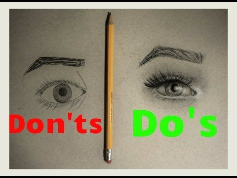 Realistic Eye Drawing: What TO do/What NOT to do - YouTube