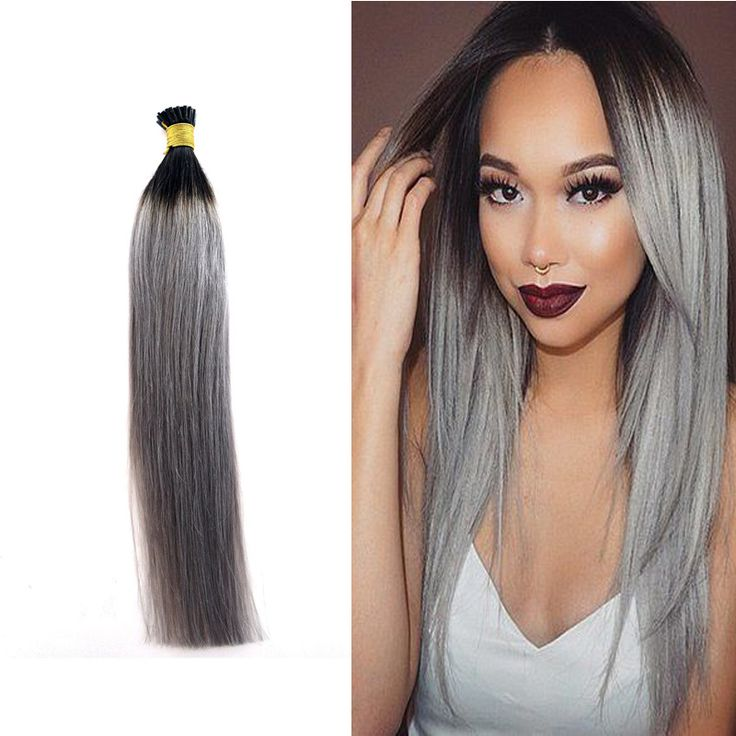 19 best keratin human hair extension nailu tip human hair find more human hair extensions information about 1gs ombre grey i tip hair extension pmusecretfo Image collections