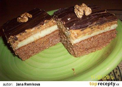 Karamelové řezy snů recept - TopRecepty.cz