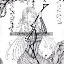 Orienla was designed to bring to life a character developed my a dear friend of the artist. Orienla is a noble-woman who breaks with expectations due to independent nature. Although she is a strong woman and deadly with her bow, she is still a woman; soft and vulnerable.  This print is limited ...