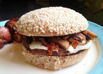 Vegan Mushroom Bacon Swiss Burger? Now that's what we call a burger ...