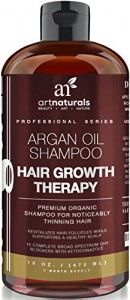 Art Naturals Organic Argan Oil Hair Loss Shampoo for Hair Regrowth 16 Oz - Sulfate Free - Best Treatment for Hair Loss, Thinning & Aging - Product For Men & Women - Infused with Biotin -3 Month Supply | Essential-Organic.com | great organic makeup and cos