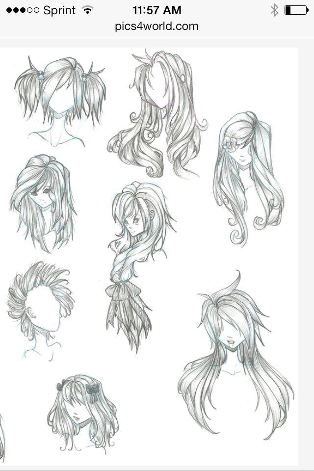 hair sketch ideas
