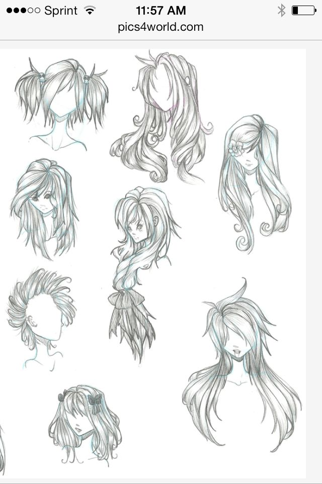 Anime hair references~