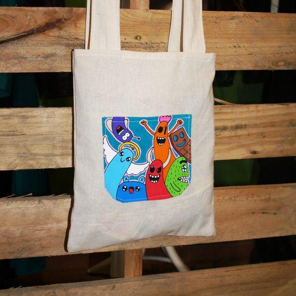 Pocket Tote Bag de Mr. Rancio! Ilustración por DaWanda.com