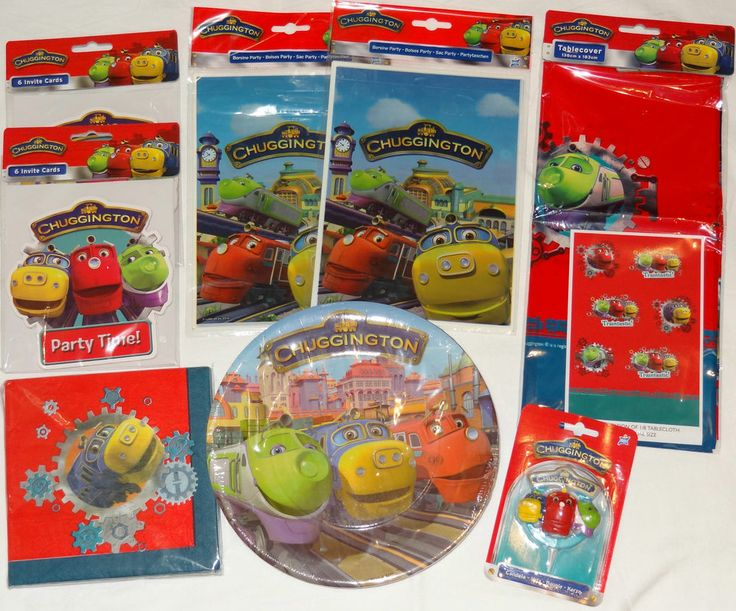 DELUXE CHUGGINGTON PARTY SUPPLIES PACK (for 10 guests)