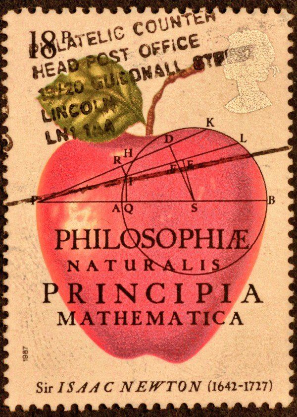 British postage stamps (Isaac Newton) British postage stamps (Isaac