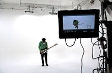 Sala di posa Marco Poderi Studio durante la registrazione di un videoclip