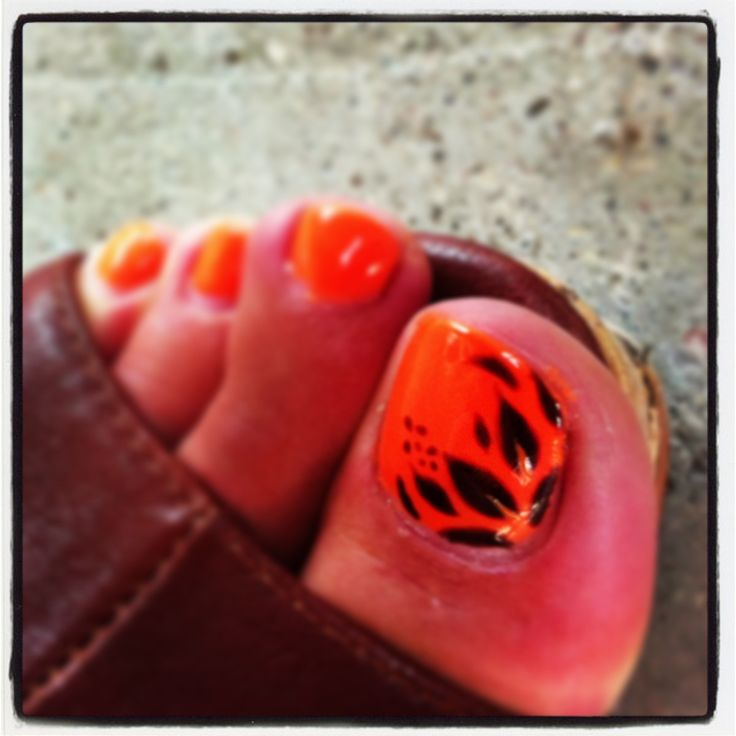 Best 25+ Orange Toe Nails Ideas On Pinterest