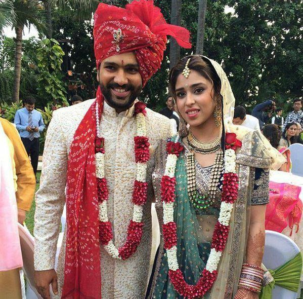 Indian cricketer #RohitSharma got married to long time girlfriend Ritika Sajdeh (Sports Manager) on December 13th, Sunday. The wedding festivites took place at a poolside of 5 Star Hotel in Mumbai suburb of Bandra.