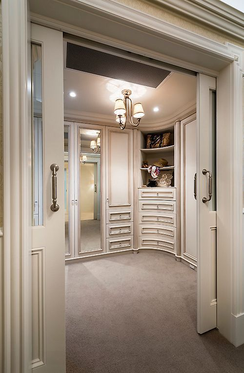 Pocket doors - walk in closets