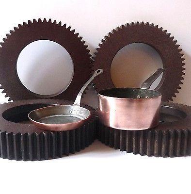 dinette en cuivre casserole et poêle antique dollhouse copper utensils pan stove