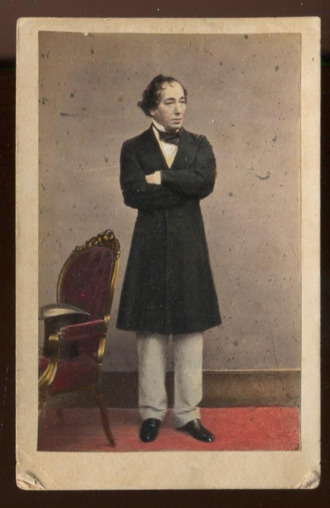 Benjamin Disraeli British Prime Minister Antique Hand Colored CDV Photo | eBay