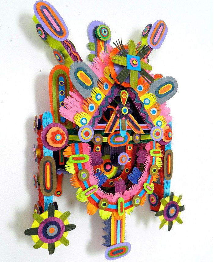 Paper Sculptures by Michael Velliquette