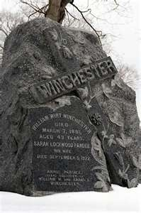 Headstone, Grave of Sarah Winchester