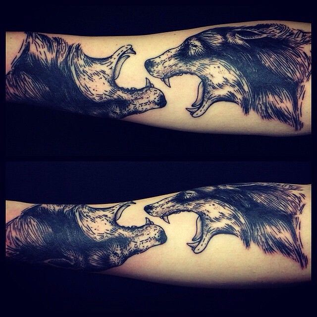I don't like how to mirrored, but it would be tight with just one on a forearm