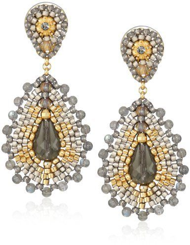 Miguel Ases Labradorite Small Tear Drop Earrings on shopstyle.com