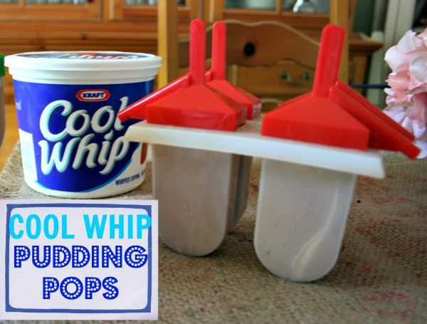 COOL WHIP Pudding Pops via @Mary Powers Powers Powers Powers Powers Powers Powers Powers Powers Beth @ Cupcakes & Crinoline #coolwhip