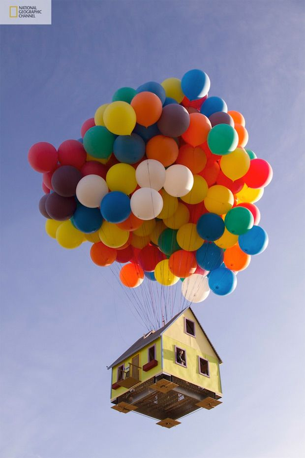 up houseMovie House, The National, Floating House, Real Life, National Geographic, World Records, Los Angels, Pixar Movie, Disney Movie