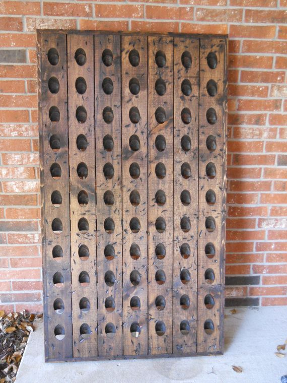Wine Rack Wine Riddling Rack 77 Bottle by CozyCreekWoodworking, $349.00