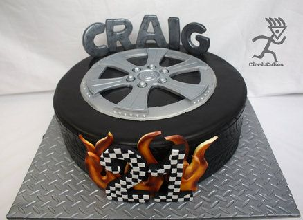 11 Best Tyre Cakes Images On Pinterest Tire Cake Car Cakes And