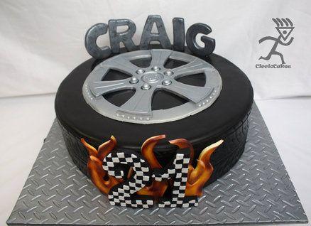 14 Quot Tyre Cake For 21st Cake Ideas Pinterest Tire