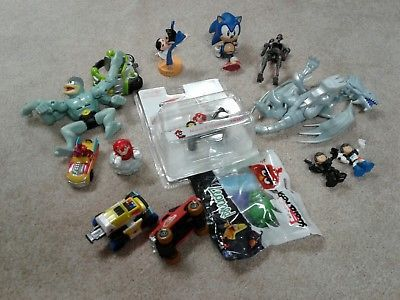 Lot Pokemon Nintendo Viacom Figures Sonic Hedgehog Anime Mario Angry Birds Blue