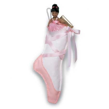 THere are many Christmas Stocking ideas on Family Fun.  I have been wanting to make them for a long time.  This is the year!  Ballet Slipper Stocking