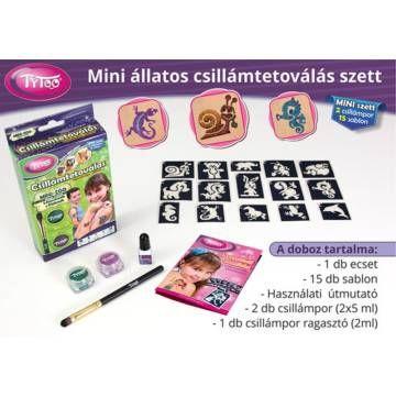 Mini-ZOO Állatos Csillámtetoválás - Tytoo - Egyszerbolt