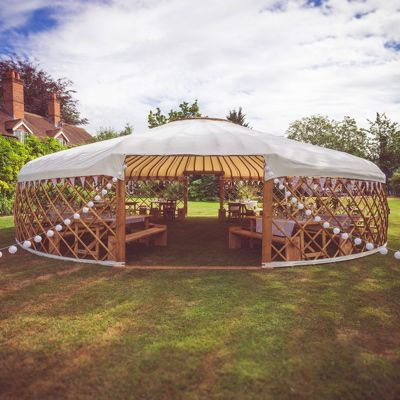 These luxury Wedding Yurts have been designed to to host intimate wedding receptions and are the perfect alternative to a traditional marquee.  Wedding Yurts is the dream of Lizzie and Jim and they strive to deliver an intimate and bespoke service offering expertly crafted packages.  Based in Bristol, the Wedding Yurts team cover the UK spreading their yurt love!
