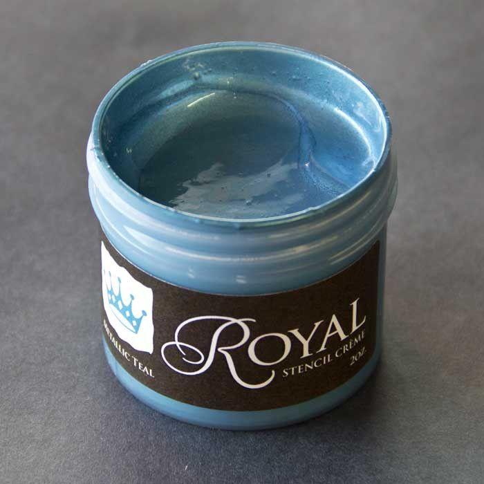 Metallic Teal Stencil Creme from Royal Design Studio