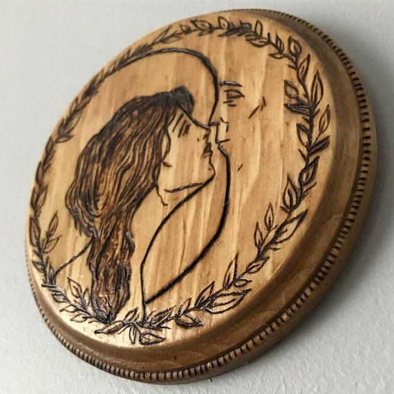 To the moon and back, wood burning