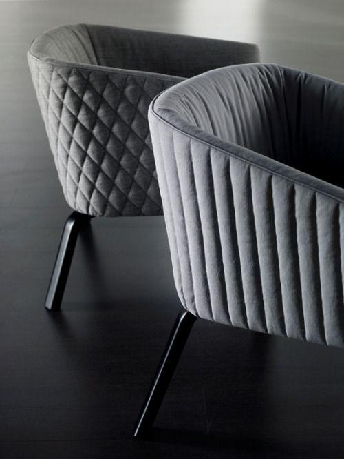 Meridiani - 'Lolita Diamond' and 'Lolita Stripe' armchairs