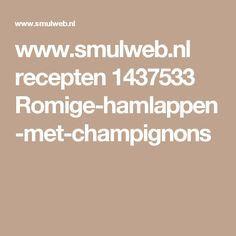 www.smulweb.nl recepten 1437533 Romige-hamlappen-met-champignons