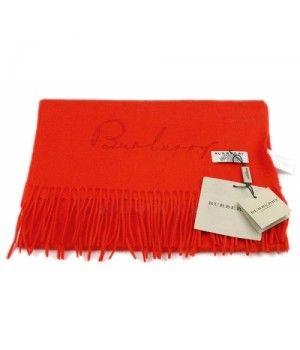 Burberry Monochrome Cashmere scarf Red www.replica-burbe...